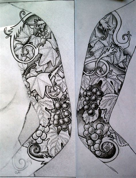 tattoo sleeve drawings tattoos black and white sleeve designs