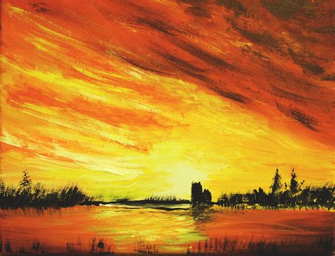 acrylic paint sunset the gallery for gt sunset acrylic painting