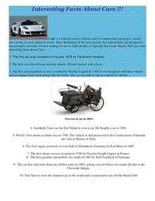 facts about new cars interesting facts about cars