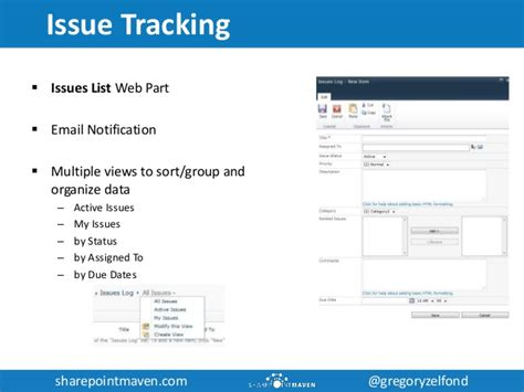 sharepoint issue tracking template utilizing sharepoint for project management