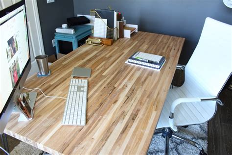 building butcher block diy butcher block desk modish