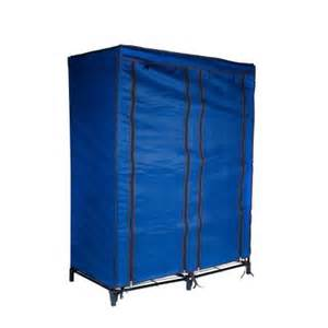 trademark home navy blue portable closet with 4 shelves 82