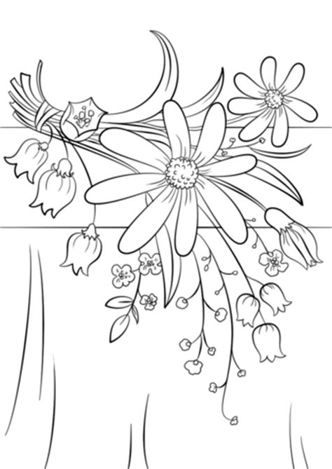free coloring pages of summer flowers flower colouring pages free flower page printable
