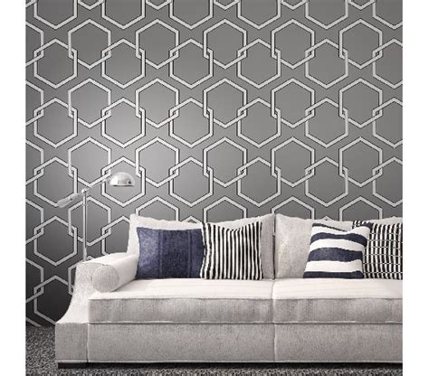 removable wallpaper clean honeycomb gray designer removable wallpaper