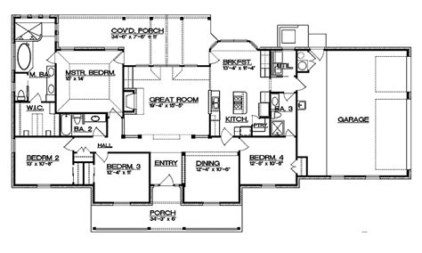 split bedroom floor plan split bedroom floor plan house plans 4747