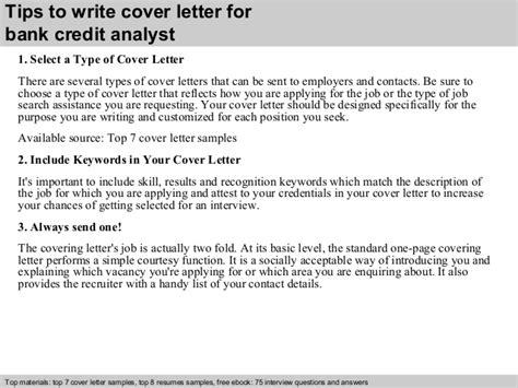Credit Analyst Cover Letter by Bank Credit Analyst Cover Letter