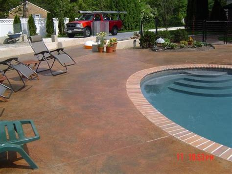 Patio Design Rhode Island Terra Cotta Patios Pool Artistic Concrete Featured