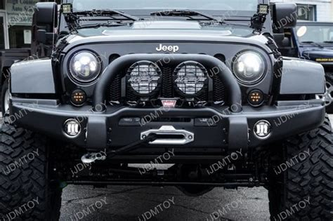 jeep lights on top jeep wrangler jk dodge chrysler 30w high power cree 4 inch