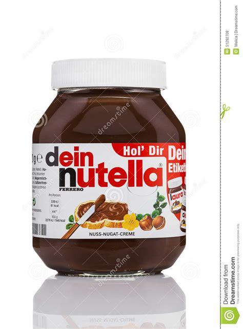 design nutella label nutella hazelnut spread editorial stock photo image