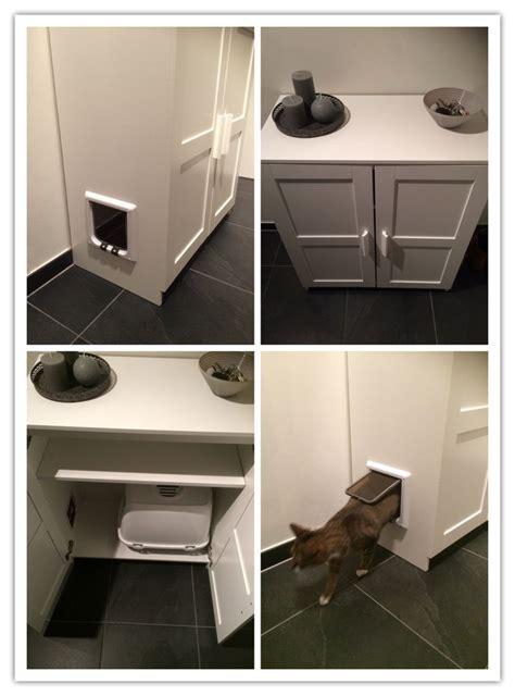 Cat Lovers Litter Box In Ikea Cabinet Kattenbak In Kast Litter Box Cabinet Ikea