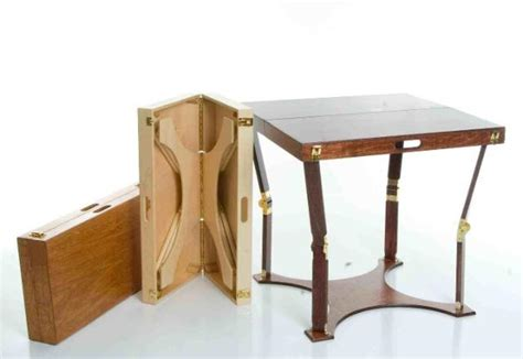 crafted portable folding cafe table spiderlegs