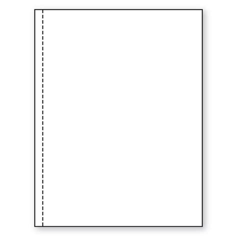 8 5 x 11 20lb perforated paper 1 2 from left paper