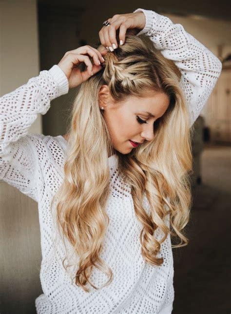 side braid  loose waves side braid hairstyles