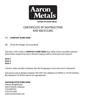 Letter Of Intent To Purchase Scrap Metal scrap fill printable fillable