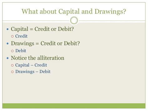 Unit Credit Formula unit 3 debits and credits