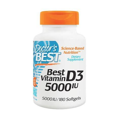 Suplemen Vitamin D3 Jual Doctor S Best Vitamin D3 Suplemen 5000 Iu 180