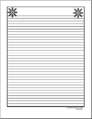 lined paper with winter border writing paper snowflakes upper elementary abcteach