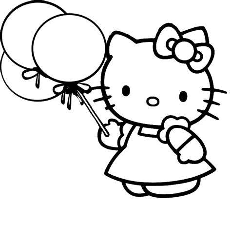 Coloring Page For Hello Kitty | hello kitty coloring pages team colors