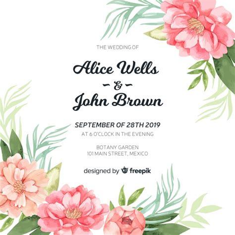 convite de casamento flores em aquarela modelo de convite de casamento flores lindas pe 244 nia