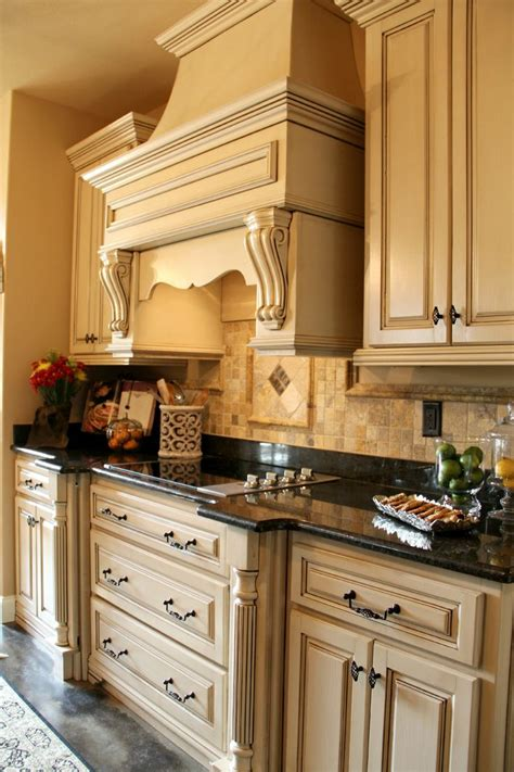 Buttercream Kitchen Cabinets Buttercream Antiqued Custom Cabinets Photo Gallery Elite Homes Of Nea Kitchen