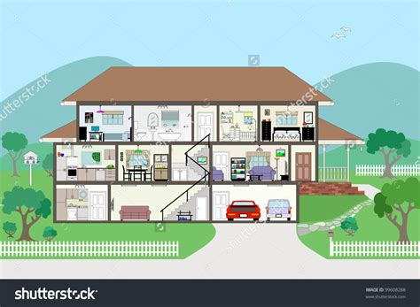 house cross section house cross section clipart 62
