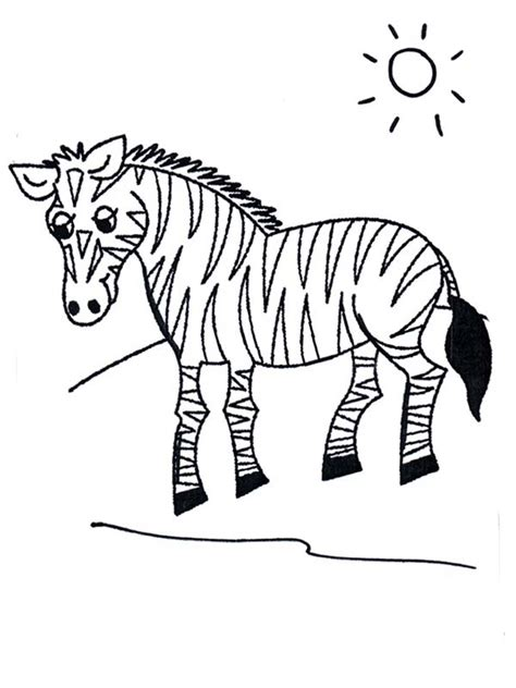 coloring pages of grassland animals zebra in grasslands coloring page kids play color