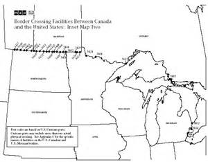 map of us and canada border