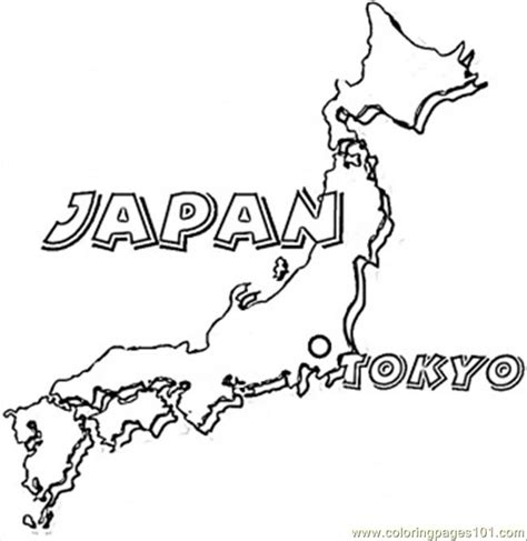 Japan Coloring Book map of japan coloring page free japan coloring pages coloringpages101