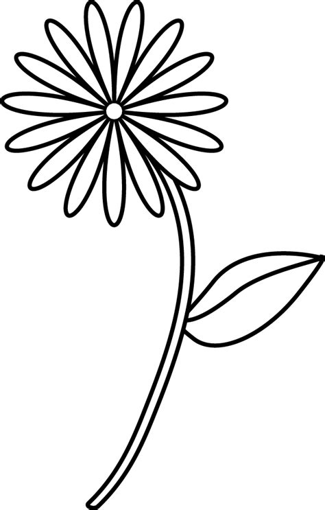 coloring pages simple flower simple flower coloring page coloring home