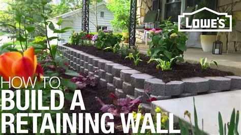 How To Build A Retaining Wall Youtube How To Build A Garden Wall On A Slope