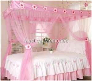 Princess Canopy Bed For Sale Pink Flower Princess Mosquito Net 4 Poster Bed Canopy