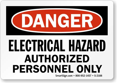 Electrical Hazard Authorized Personnel Only Sign Osha