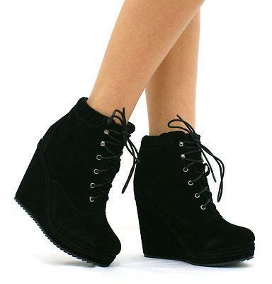 New Arrival High Heel Shoes 2799 5 Sepatu Wanita Branded Impor wedge high heel shoes black high wedge heel lace up