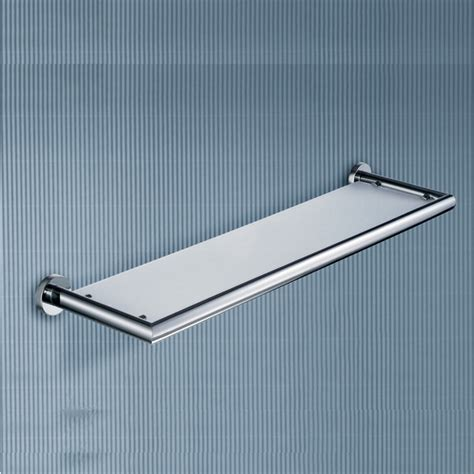 Glass Shelves Bathroom Wall Frosted Glass Wall Mount Bathroom Shelf Contemporary Bathroom Cabinets And Shelves Other