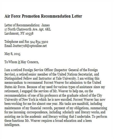 sample promotion recommendation letter sample