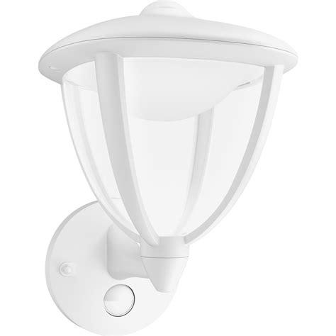 philips led robin outdoor pir wall lantern ip44 4 5w white