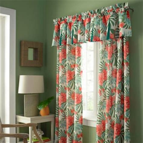 Buy aqua and coral curtains from bed bath amp beyond