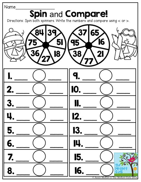 printable comparing numbers games spin and compare comparing numbers has never been this