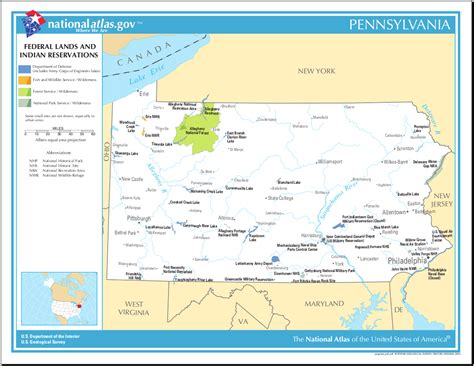 indian reservations usa map map of pennsylvania map federal lands and indian