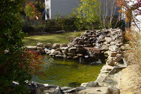 backyard pond fish small koi ponds with waterfalls expanding the koi pond