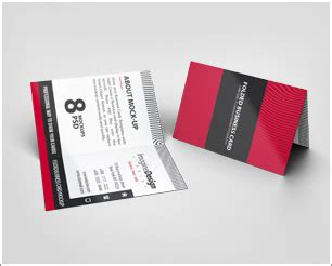 foldable business card template folded business card mockup v2 by idesignstudio net