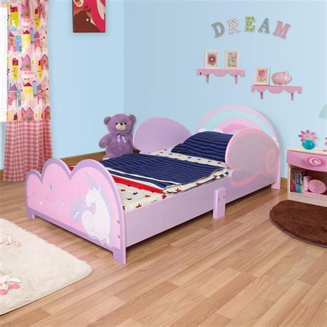 langria lit enfant en bois fille arc en ciel violet