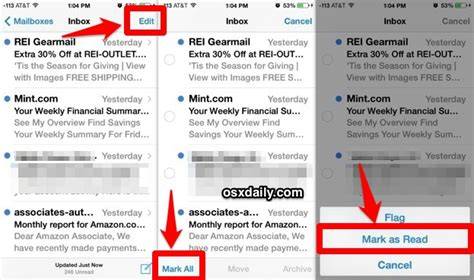 all as read iphone how to instantly all email as read in mail for ios