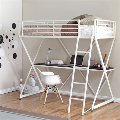 Bunk Bed With Desk by Duro Z Bunk Bed Loft With Desk White Bunk Beds Loft