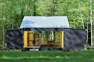modern prefab cottages minimalist prefab cottage modern design in small forest