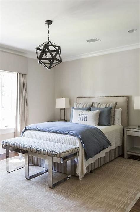 tan and blue bedroom interior design inspiration photos by talbot cooley interiors