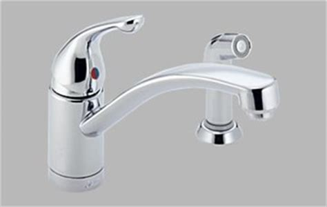 kitchen faucets clearance delta 451 wf single handle kitchen faucet with spray clearance item