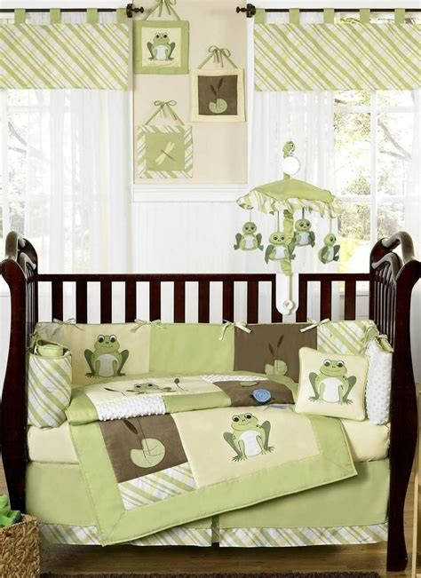 Green And Yellow Crib Bedding Yellow And Green Leap Frog Baby Boy Unisex Bedding 9pc Crib Set Cribs Frogs And