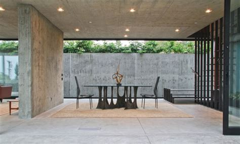 exposed concrete walls luxurious california residence blurs boundaries of conventional design
