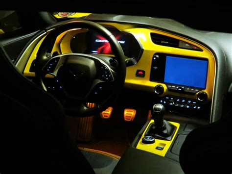dash for the c7 corvette stingray z06 grand sport 2014 custom painted